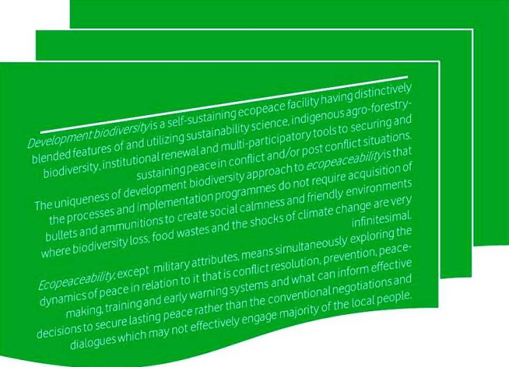 Figure 1: The meaning of ecopeaceability
